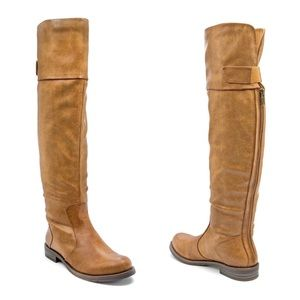 Bare Traps Charidy Brush Brown Over The Knee Boots